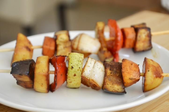 שיפודי ירקות בתנור
