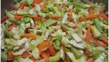 ירקות מוקפצים עם טופו